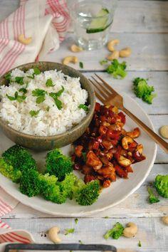 Kyckling cashew med broccoli (kyckling siam) - God mat med L Chana Masala, Good Food, Healthy Recipes, Healthy Food, Low Carb, Dinner, Vegetables, Eat, Ethnic Recipes