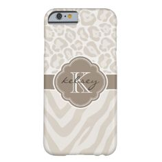 Cute Modern Girly Trendy Chic Stylish Case Design with Zebra Stripes and Cheetah Leopard Jaguar Animal Pattern with Custom Personalized Monogram Name and Initial in a Vintage Morroccan Quatrefoil Clover Frame Border #custom #girly #leopard #monogram #pattern #name #zebra #stripes #personalized #initial #animal #frame #ribbon #border #cute #modern #vintage #stylish #fancy #elegant #cheetah #jaguar #quatrefoil #clover #morroccan