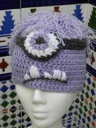 Resultado de imagen para gorros minions morados a crochet