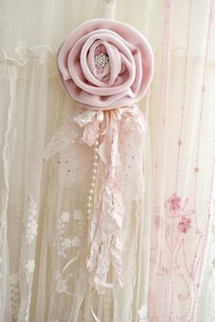 Beautiful Pink Velvet Gillyflower Handmade by Jennelise .**