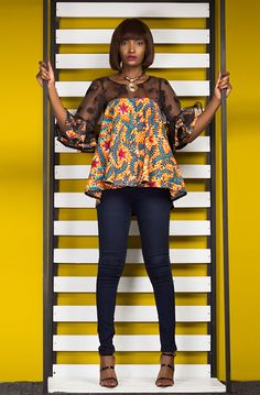 Afro Mod Trends is a contemporary, Ghanaian womenswear brand featuring ready-to-wear afro-fusion outfits and luxury bespoke garments. About Afro Mod Trends At African Fashion Designers, Latest African Fashion Dresses, African Print Dresses, African Print Fashion, Africa Fashion, African Dress, African Blouses, African Tops, African Attire