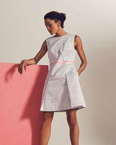 Fish print dress - Light Grey | Dresses | Ted Baker UK