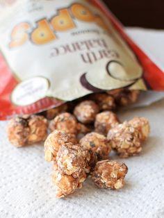 Earth Balance Popps - Peanut Butter and Tis the Season Sweet Popcorn, Nut and Oat Snacks - dairy-free, gluten-free, vegan, non-GMO