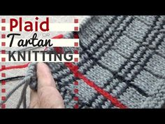Tartan or Plaid Knitting - YouTube