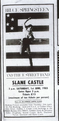 Meath Chronicle ad for the Slane show, 1985