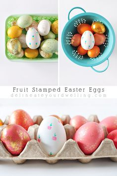 Fruit Stamped Easter Eggs...how to...