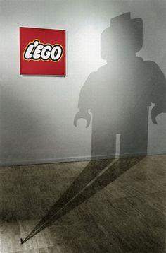 Shadow ads - very green! (Legos)