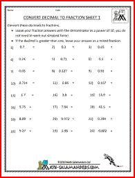 best fractionsdecimals images  school equivalent fractions  convert decimal to fraction th grade fraction worksheets fractions to decimals  worksheet th grade