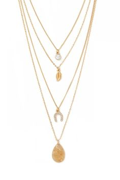 Layered Charm Necklace #accessorize