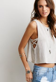 Caged Armhole Tank - Shop All - 2000097566 - Forever 21 EU