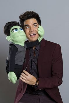 "Still don't understand why his puppet is green. ""Me and my shadow"" 
