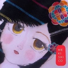 Little #Mexican girl #illustration will be available as original art or print on our store. Keep tooned.