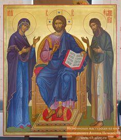 Икона Деисус купить или заказать в иконописной мастерской в Москве