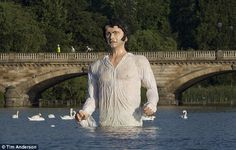 mr darcy in hyde park - honestly this is just too bizarre...