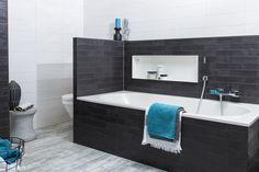 Strak zwart bad - DesignLook badkamer