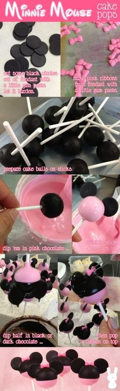 Minnie Mouse cake pop tutorial