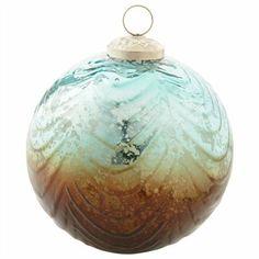 Décoration en verre en forme de boule à volutes $10