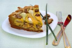 Pie With Spring Onions And Mushrooms Recipe