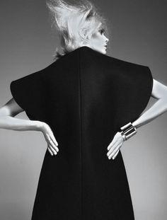 opaqueglitter:  Le Noir Soulage   Dewi Driegen by Ishi for French Revue De Modes Fall Winter 2013-2014.