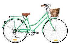 "NEW 2015 Dutch CLASSIC MINT GREEN Ladies Vintage Retro Bike 18"" - Shimano 6-Spd"