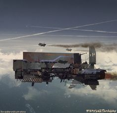 Rusty old cargo ship, giorgio baroni on ArtStation at https://www.artstation.com/artwork/lZ5Be