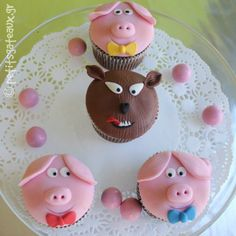 The three little pigs and the big bad wolf!