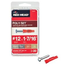Use these to hang things on cinder block walls. The plastic not only grips tightly, but seals out moisture.