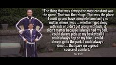 On constantly moving around as a child as his dad played professional basketball in Europe.