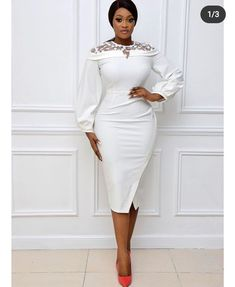 Elegant Dresses For Women, African Dresses For Women, African Fashion Dresses, Casual Dresses, Stylish Work Outfits, Chic Outfits, Fashion Outfits, Womens Fashion, Occasion Dresses