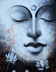 """A kind gesture can reach a wound that only compassion can heal.""    ~ Steve Maraboli  * Arts N You - Gautam Buddha Face Painting.   <3 lis"