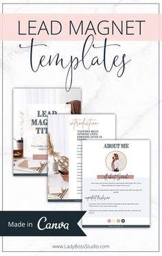 Lead Magnet Templates! It's time to grow your email list with interested buyers who need your content. You can use these Templates to create Lead Magnets for your biz over and over! Check them out now! Email Marketing Design, Email Marketing Strategy, Content Marketing, Marketing Ideas, Media Marketing, Online Marketing, Digital Marketing, Home Based Business, Business Tips