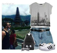 """""""Day in Bali with Ash"""" by xcuteniallx ❤ liked on Polyvore featuring MANGO, Retrò, Casetify, Anya Hindmarch, adidas Originals and Ray-Ban"""