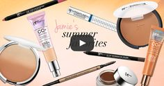 IT Cosmetics co-founder Jamie shares her favorite products for sun protection, a natural glow and brows that won't melt away in the heat! #entry