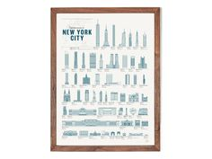 Structures of New York City Poster - Pop Chart Labs - Modern Anthology - 1