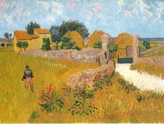 "Vincent van Gogh – ""Farmhouse in Provence, Arles"" 1888"