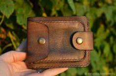 Купить Кошелек мужской - коричневый, кожаный кошелек, мужской кошелек, портмоне из кожи, кошелек из кожи Coin Purse Wallet, Leather Purses, Leather Wallets, Leather Bag, Leather Pattern, Kydex, Leather Working, Leather Craft, Card Case