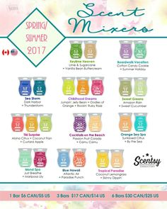 Be a Scentologist!! 2017 Spring/Summer Mixology www.shallscents.scentsy.us