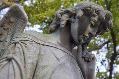 Angel, Cemetery, Statue, Stone