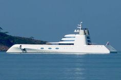 "Russian billionaire Andrey Melnichenko $323 million super yacht ""A"". By Philip Stark."