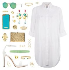 """""""The Sky Is The Limit"""" by belenloperfido ❤ liked on Polyvore featuring Zara, Monsoon, Tie-Ups, Ray-Ban, Oscar de la Renta, Movado, Forever 21, Cartier, Etro and StyleRocks"""