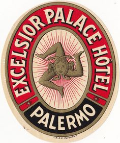 Palermo, luggage labels and Goethe's arrival - Italian Ways Palace Hotel, Hotel S, Grand Hotel, Gran Tour, Mulberry Tree, Vintage Hotels, Luggage Labels, Beer Coasters, Vintage Travel Posters