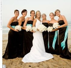 Black and turquoise wedding colors #turquoise #wedding #inspiration