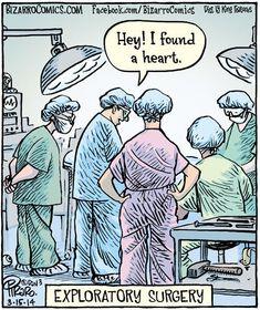 """Bizarro"" by Dan Piraro Bizarro Comic, Pic Saint Loup, Medical Jokes, Comics Kingdom, Health Motivation, Motivation Quotes, Lessons For Kids, Health Quotes, Comic Strips"