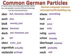 Common german particles