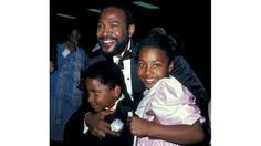 Marvin Gaye with daughter Nona and son. (How is it that I don't know his name?)