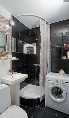 Trendy Tiny Home Bathroom Layout Ideas Small Full Bathroom, Small Bathroom Layout, Modern Bathroom, Bathroom Ideas, Minimal Bathroom, Boho Bathroom, Small Bathrooms, Bath Ideas, Bathroom Designs