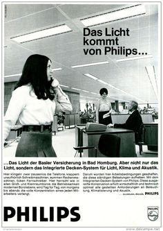 Original-Werbung/ Anzeige 1969 - PHILIPS / BASLER VERSICHERUNG BAD HOMBURG - ca. 180 x 240 mm
