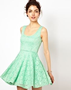 Oh My Love Skater Dress in Lace