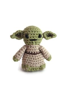 Yoda inspired amigurumi. Star Wars Softy. Star wars crochet plush
