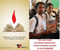 Happy Diwali to all from Thinksharpfoundation Team and StudyMall children, Thanks for your support..Make Diwali special for this children too?Send them Books to learn at StudyMall.